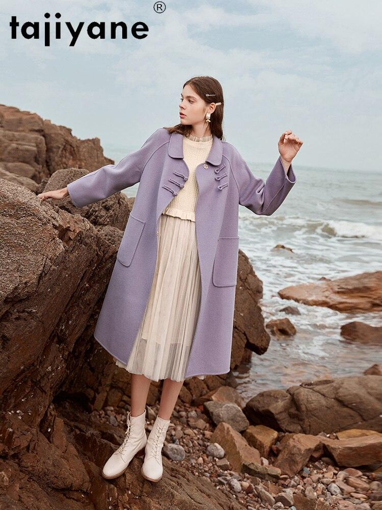 Tajiyane Winter 2020 Women's Coats and Jackets Women 100% Wool Jacket Woman Real Fur Coat High Quality Mujeres Abrigos TN1545