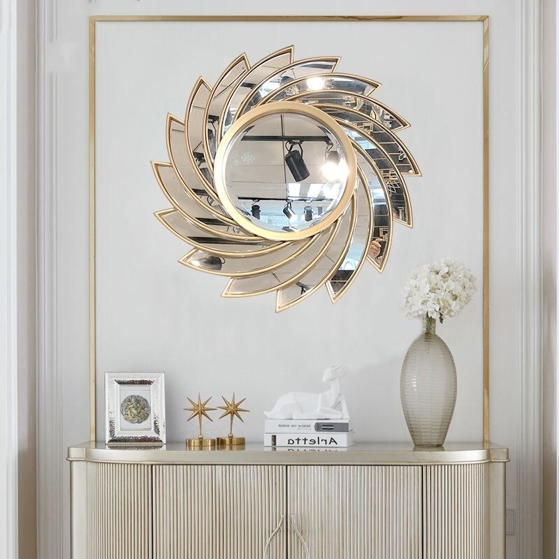 النمط الأوروبي الحديثة الكلاسيكية مرآة حمام المكياج مرآة جدار ديكور غرفة المعيشة الحلي