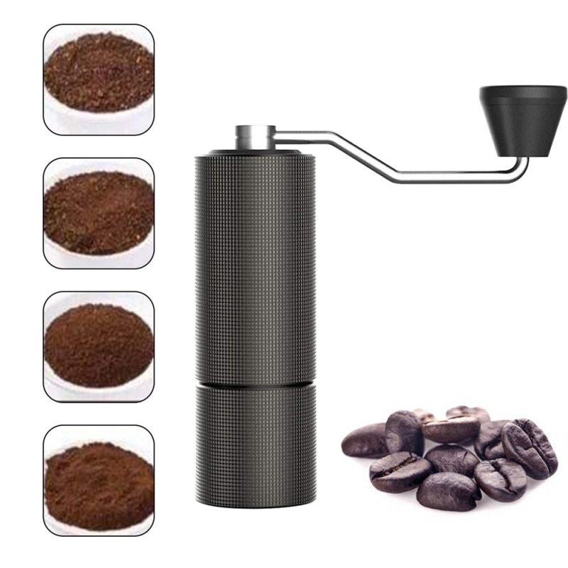 Coffee Grinder Chestnut Portable Hand Coffee Bean Grinder CNC Grind Machine Mill With Double Bearing Positioning