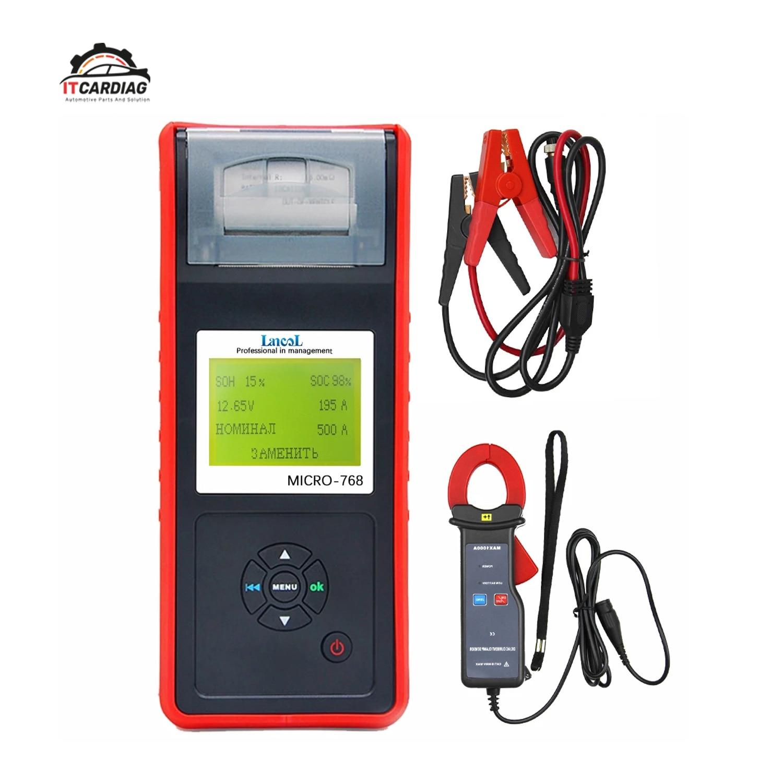 Probador de batería de coche MICRO-768A con analizador de batería de impresora, Detector de corriente automático, herramientas profesionales