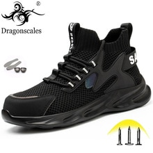 2021 New Design Safety Work Shoes Boots For Men Anti-Smashing Safety Shoes Steel Toe Construction Su