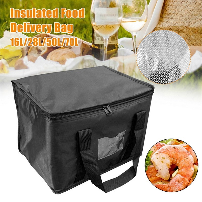 AliExpress - Portable Lunch Cooler Bag Folding Insulation Picnic Ice Pack Food Thermal Bag Drink Carrier Insulated Bags Food Delivery Bag 70L