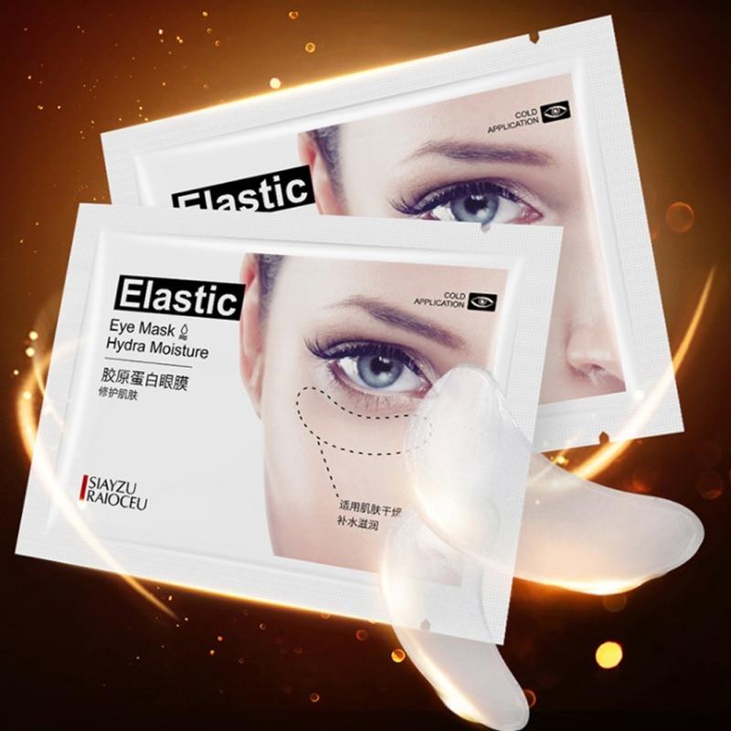 2 unidades de Gel de colágeno máscara de ojos hidratante líneas finas suaves antihinchazón círculos negros parche de ojos líquido esencial para el cuidado de la piel de la cara