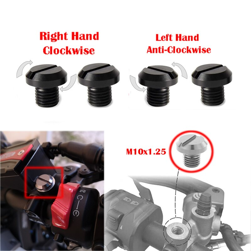 M10X1.25 Mirror Hole Plug Screws Bolt Aluminum For Kawasaki Versys 650 1000 Z900RS Z900 Z800 Z650 Z1000 Vulcan VN900 ER-6N