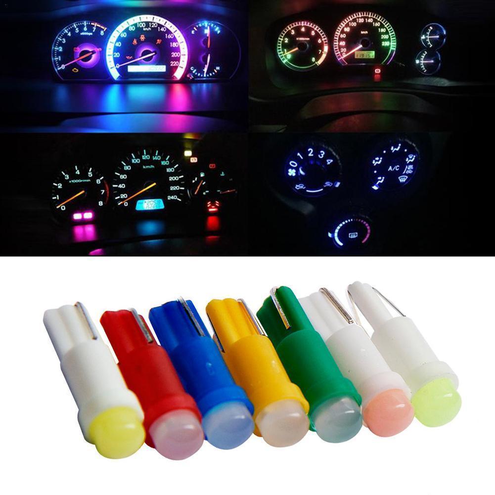 1pcs T5 Led 1 SMD Ceramic Dashboard Light 12V Car Interior Supplies Auto COB Indicator Lamp LED Gauge Speedometer Bulb Wholesale
