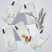 little prince fairy cute cartoon phone case transparent for huawei honor p mate 40 20 30 10 50 i 9 x mate pro lite 8a