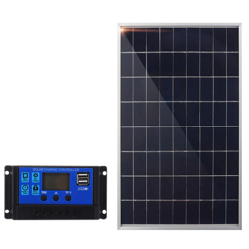 JFBL الساخن 30 واط 12 فولت لوحة طاقة شمسية شاحن بطارية + 40A تحكم ل RV سيارة قارب المنزل التخييم