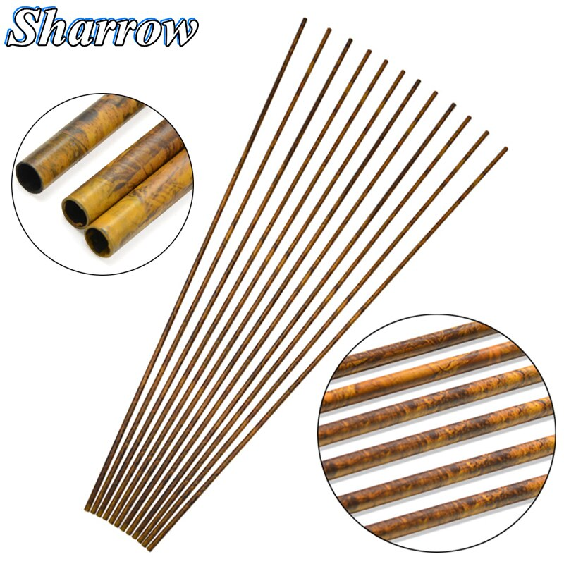 12/24pcs 30inch Camo Pure Carbon Arrow Shaft Spine250/300/350/400/450/500/550/600 ID6.2mm DIY Arrow Bow Hunting Shooting Archery