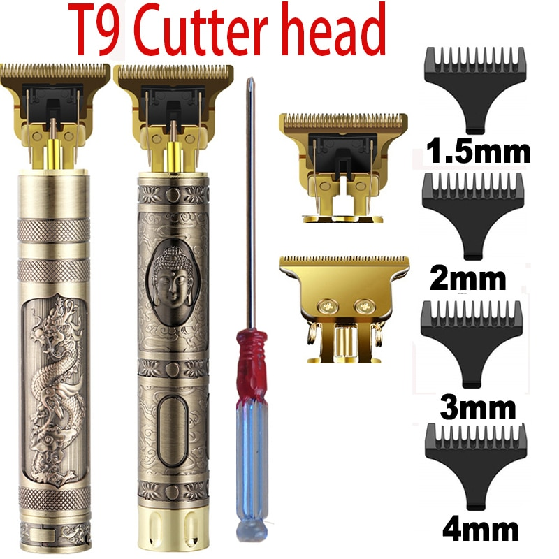 2020 T9 Hair Trimmer Barber Hair Clipper Cordless Hair Cutting Machine Beard Trimmer Shaving Machine