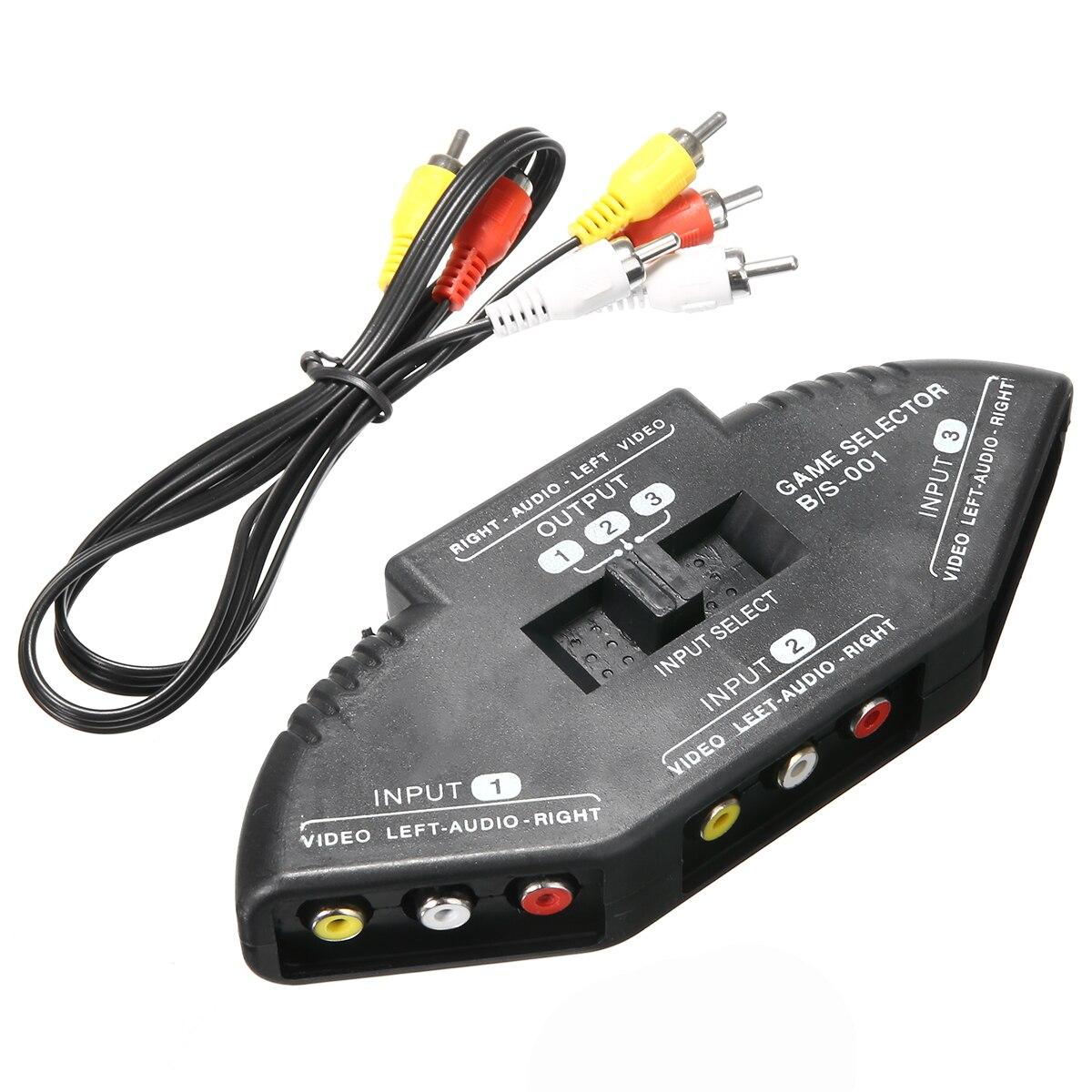 Selector de alta calidad de 3 puertos, conmutador de Audio y vídeo...