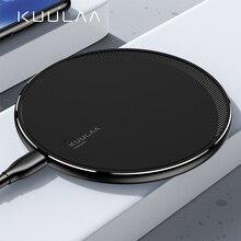 Chargeur sans fil KUULAA Qi pour iPhone 11 Pro 8 X XR XS Max 10W charge sans fil rapide pour Samsung S10 S9 S8 chargeur USB