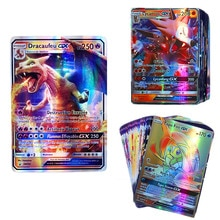 100pcs/Box Pokemon GX MEGA Game Cards TAKARA TOMY Children Playing Carte Battle Trading Shining Card