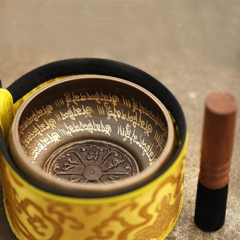 4.72 inch (12CM) BATESMUSIC Tibetan Singing Bowl Set 2.8 Inch Sound Bowl Meditation Bowl enlarge