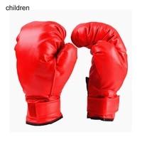 red adult child boxing gloves professional sandbag liner gloves kickboxing gloves pugilism men women training fighting tool