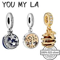 new original 925 sterling silver beads charm pando timeless fit bracelet women diy jewelry making gift