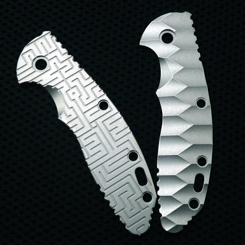 "Hinderer 3.5 ""XM-18 texturizado titanium lidar com ferramentas de faca edc lidar com material"