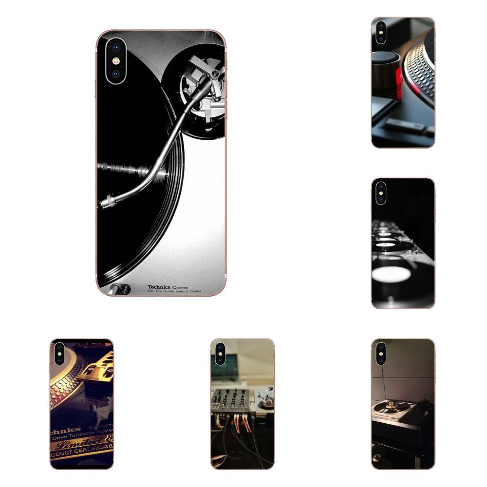 Technics Turntables Dj TPU Capa For Apple iPhone 4 4S 5 5C 5S SE SE2 6 6S 7 8 11 Plus Pro X XS Max XR
