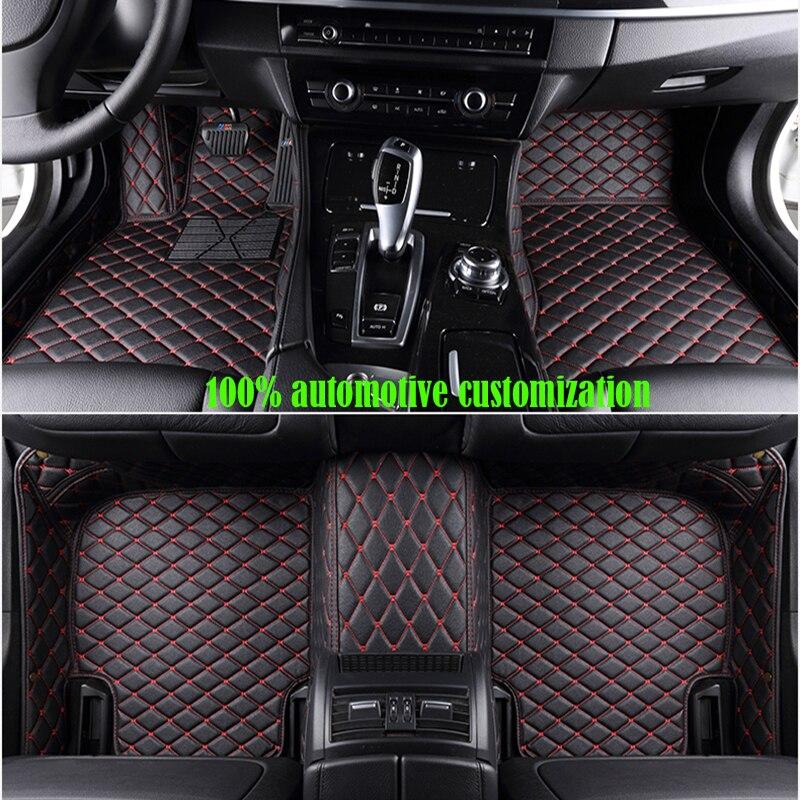 custom car floor mats for peugeot 307 sw 508 308 sw 5008 206 207 407 2008 rcz 607 301 car mats auto accessories