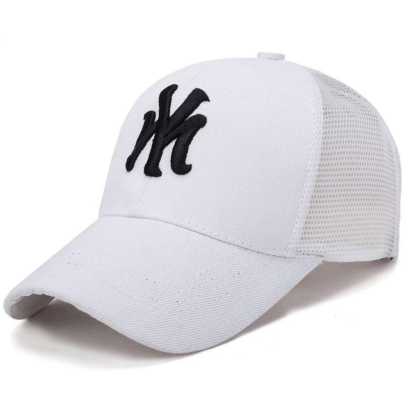 Gorras de béisbol Unisex de primavera y verano, gorra de malla con letras, moda con bordado de color liso, sombrero ajustable para mujeres y hombres, sombreros casuales de algodón 56-60cm