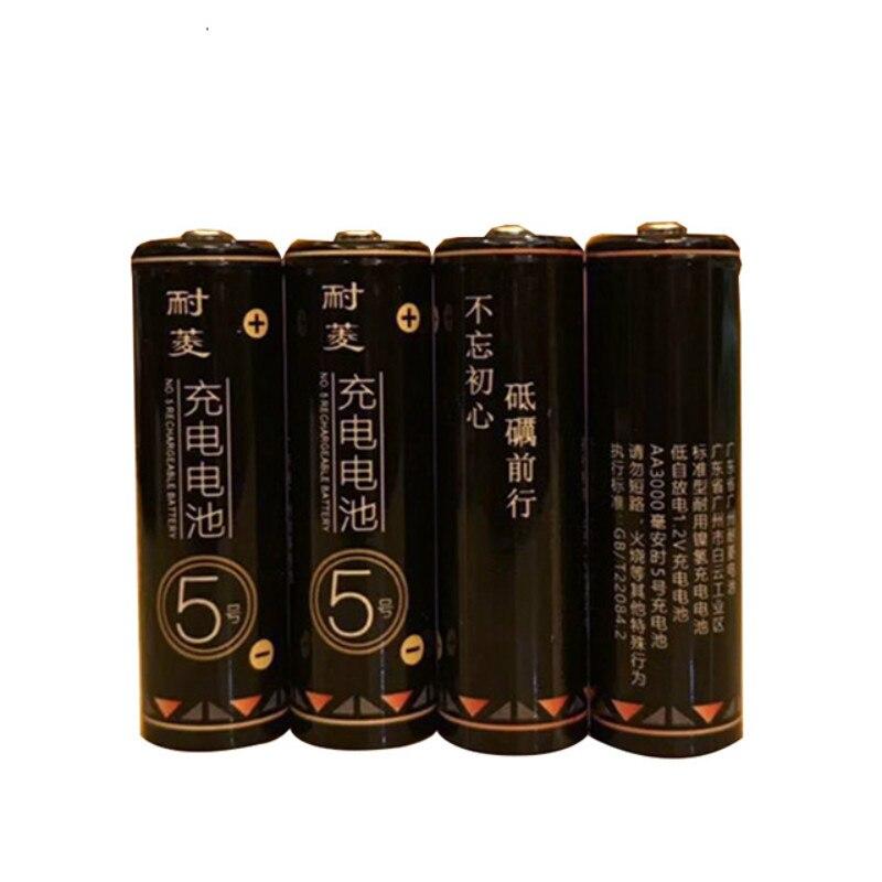 تسمير رقم 5 AA النيكل معدن هيدريد بطارية قابلة للشحن 3000 mAh 1.2V