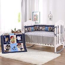 Ropa de cuna-ensemble de literie pour bébé   7 pièces, 4 pare-chocs + couette + housse de lit + jupe de lit