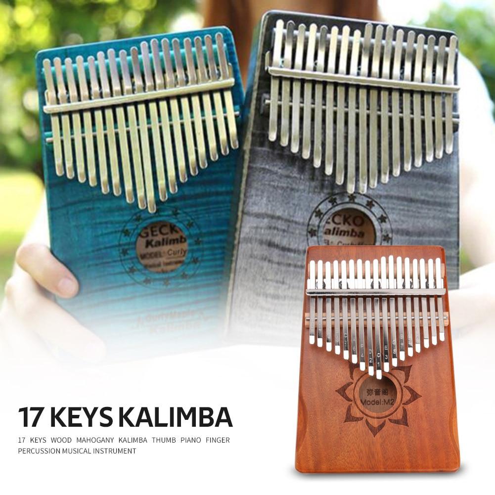 Nice Sound Creative Beginner Finger Piano 17 Tones Kalimba  Piano Musical Instrument  Thumb Lotus Miyin Pavilion Piano enlarge