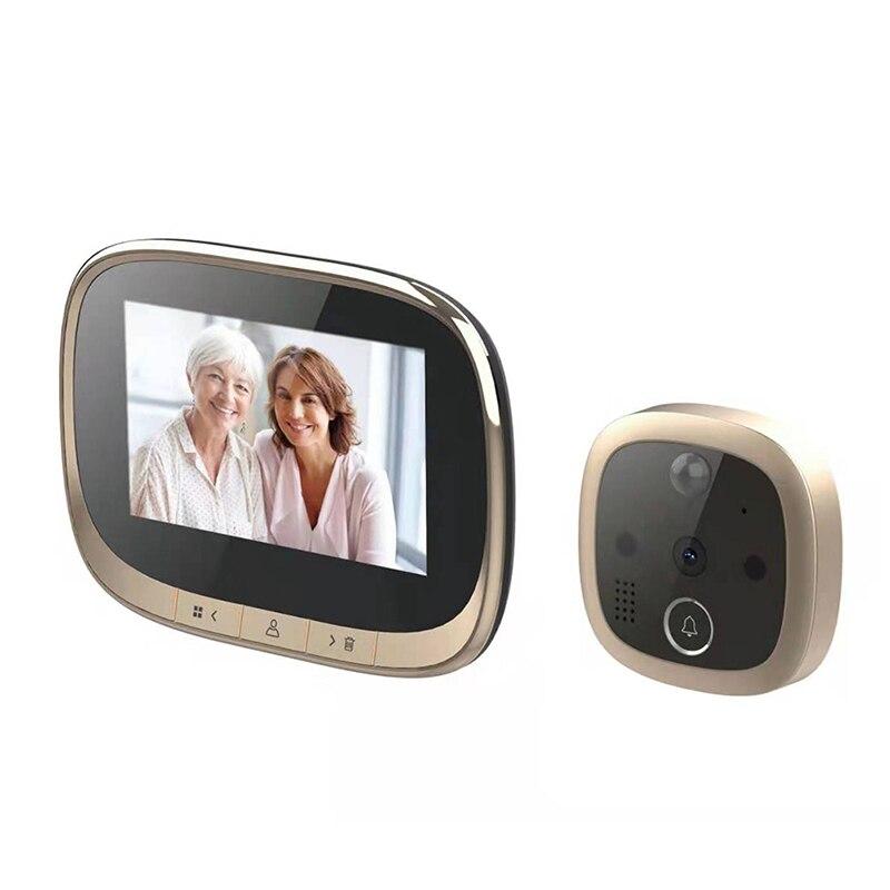 4.3 Inch LCD Color Screen Digital Doorbell 120 Degree Electronic Peephole Door Camera Viewer PIR Night Vision Outdoor Door Bell enlarge