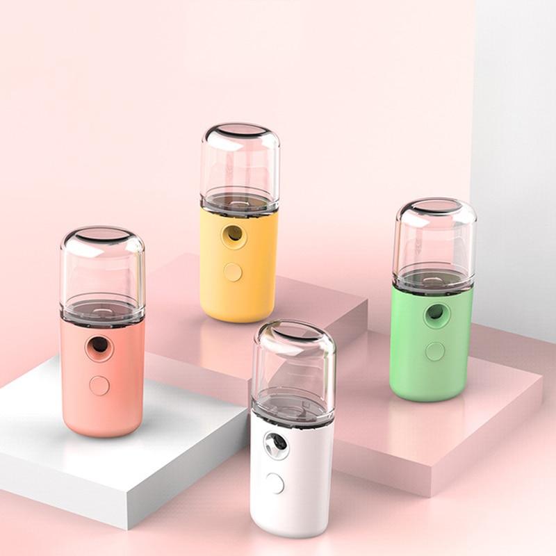 Umidade medidor de beleza umidificador carregamento usb nano pulverizador portátil rosto handheld spray frio
