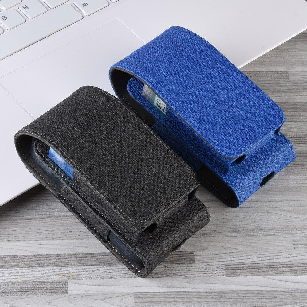 Bolsa de tela para funda IQOS, caja de cartera, bolsa de tela de bolsillo, lona Textil 2,4 Plus, funda vaquera, porta anillo para cigarrillo electrónico