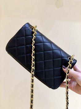 Super Quality New 2021 Brand designer High-end Ms Fashion Metal Chain Lambskin Flap Bag Free Worldwide Shipping