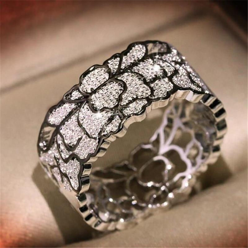 Ретро полые в виде цветов, с круглым вырезом и рисунком для указательного пальца кольцо Творческий Серебряный Цвет женское кольцо аксессуары Элегантные Изысканные ювелирные изделия