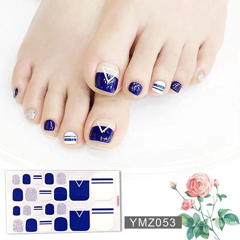 Водостойкие наклейки на ногти с 22 наконечниками/листом, наклейки на ногти с полным покрытием, наклейки ступни на носочки, клейкие наклейки для ногтей, сделай сам, салонный маникюр, оптовая продажа