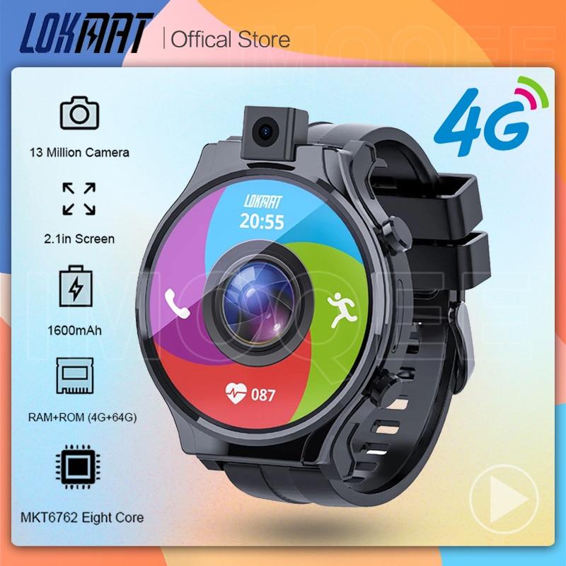 Get LOKMAT APPLLP Pro Smart Watch 13.0MP Camera 4G RAM 64G ROM Android 10.0 BT5.0 Waterproof Heart Rate Monitor 4G Smartwatch Men