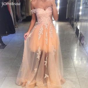 New Arrival Evening Dress Champagne Tulle Celebrity Corset Lace Up Formal Dresses Robe De Soiree Evening Party Gown Vestidos