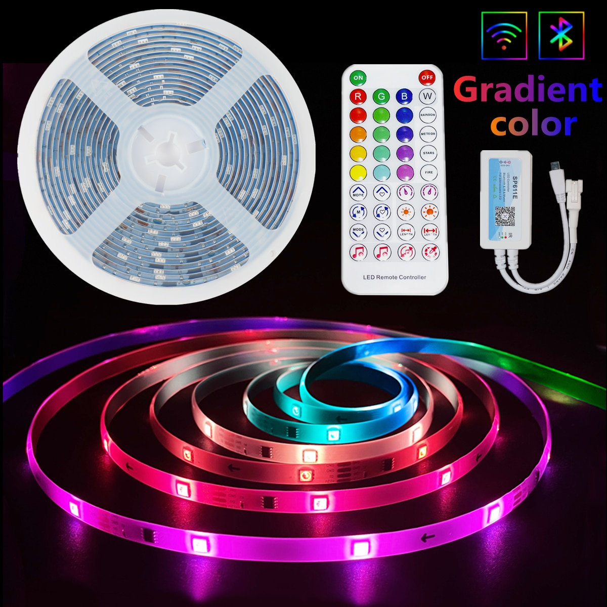 LED Strip Lights RGB 5050 Waterproof Lamp Flexible Tape Diode Bluetooth Dream color luces led 5M 10M