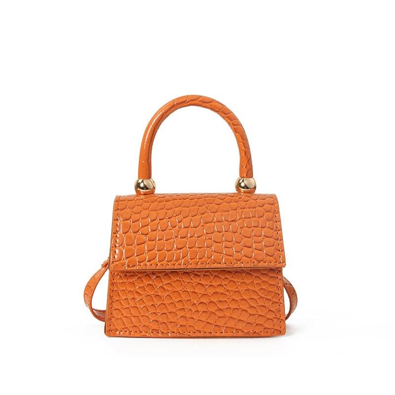 Luxury Handle Mini Square Bags Fashion Women Designed PU Women's Handbag Alligator Leather Chain Shoulder Messenger Bags Totes