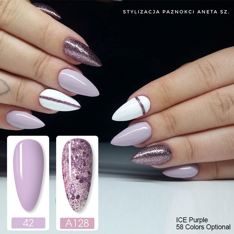 Esmalte de uñas en Gel de barnices híbridos, esmalte de uñas en Gel de manicura semipermanente, color puro de 7ML, laca de Gel polivinílico
