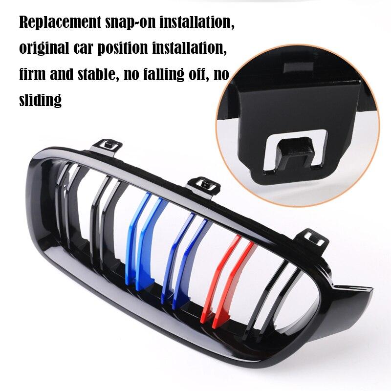 Carbon Fiber/Black Front Bumper Racing Grills Kidney Grilles For BMW E60 E61 5 Series M5 04-2009 M Power Performance Accessories