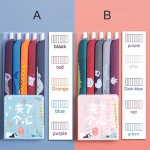 5pcs/set 3 In 1 Multifunction Pen Color Retro Gel Pen Ruler Bookmark for Student Scrapbook Taking Note Art Writing GDeal