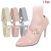 1Pair Women Shoelace For High Heels Adjustable Elastic Shoe Strap Belt Ankle Holding Anti-Skid