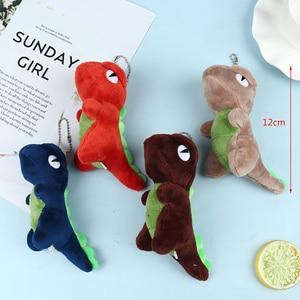 Key Chain Colorful Cute Little Dinosaur Plush Stuffed Toy Keychain Gift Animal Doll