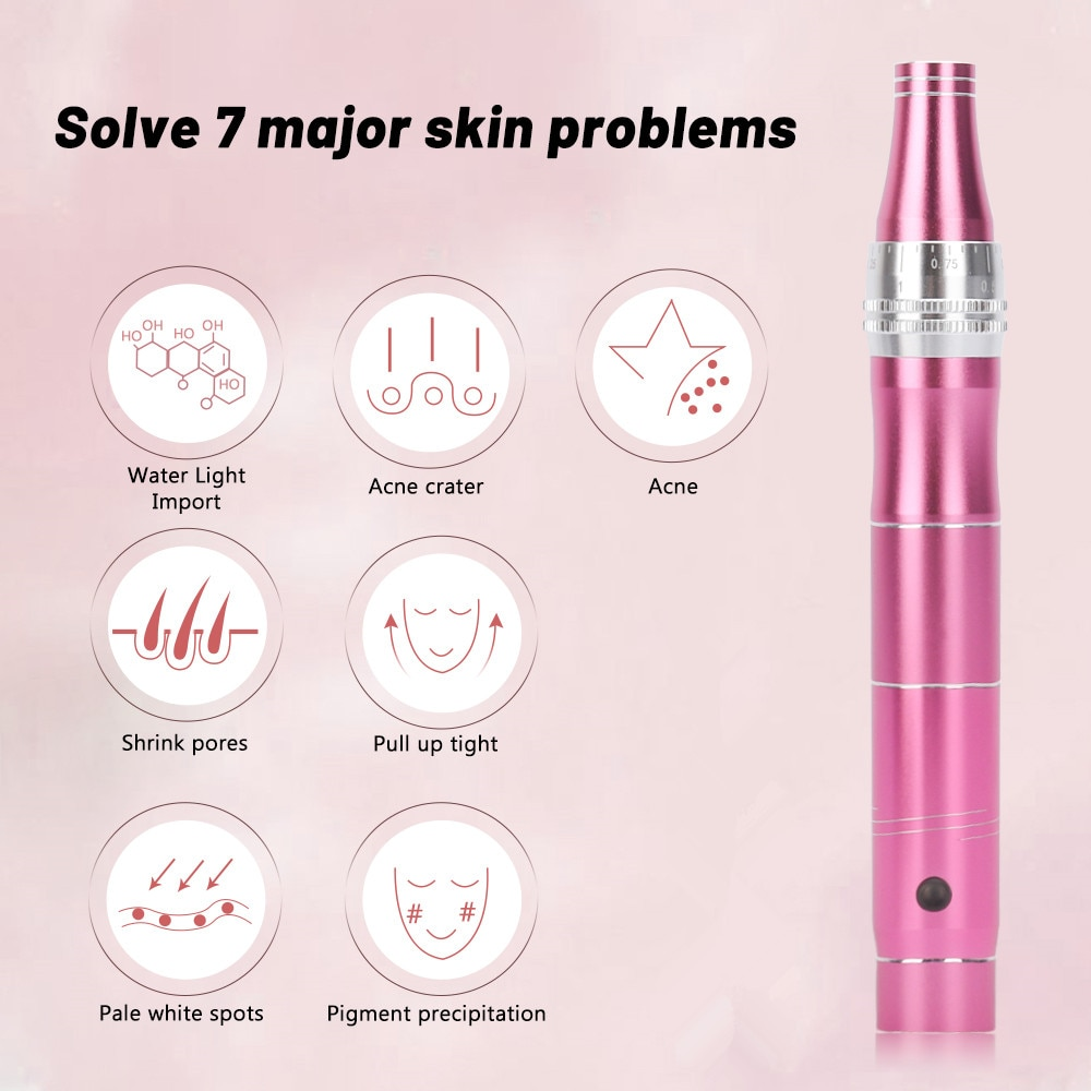 Electric Micro Tiny Needles Derma pen Professional Dr pen Wireless Microblading Tools with 6pcs needles 4pcs Acne Removal Needle enlarge
