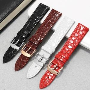 Ультратонкий ремешок из натуральной кожи 13 16 18 20 22 мм, черный, красный, коричневый браслет для L4 серии Mido Tissot, цепочка для часов