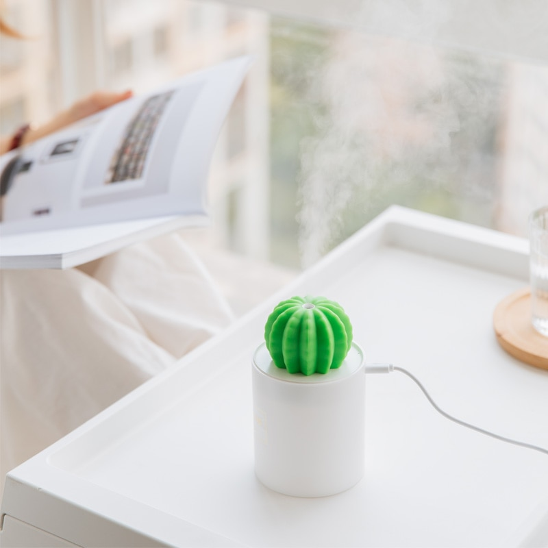 Prickly pear Cactus LED humidifier night light USB air purifier office cute plant home office study decoration kids christmas g