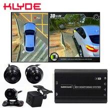 HD 3D 360 Surround Visualizzazione di Guida Supporto Vista Uccello Panorama DVR Sistema 4 Videocamera Per Auto 1080P Car Video Recorder DVR box G-Sensor