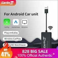 Автомобильный мультимедийный плеер Carlinkit, беспроводной адаптер для Android, Bluetooth, Wi-Fi, приемник для автомагнитолы