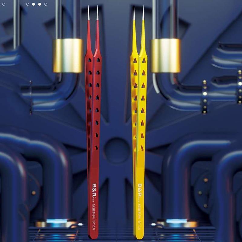 Pinças de Alta Precisão com Etapas de Sutura Adequados para Desmontagem e Telefone Ferramentas de Reparo Mais Novo São Pcb ic Precisão Peças b & r