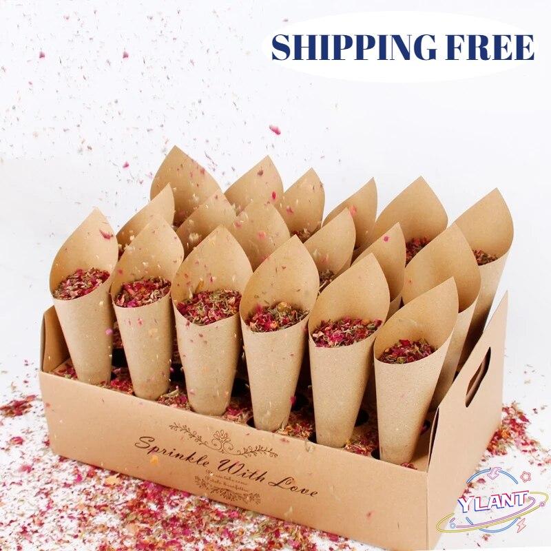 Frigg-confeti de boda de soporte para conos de decoración de boda de...