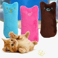 cat mint toy poodle pet thumb toys teeth pillow funny catnip cat grinding interactive pet claws bitten plush toy dog pet supplie