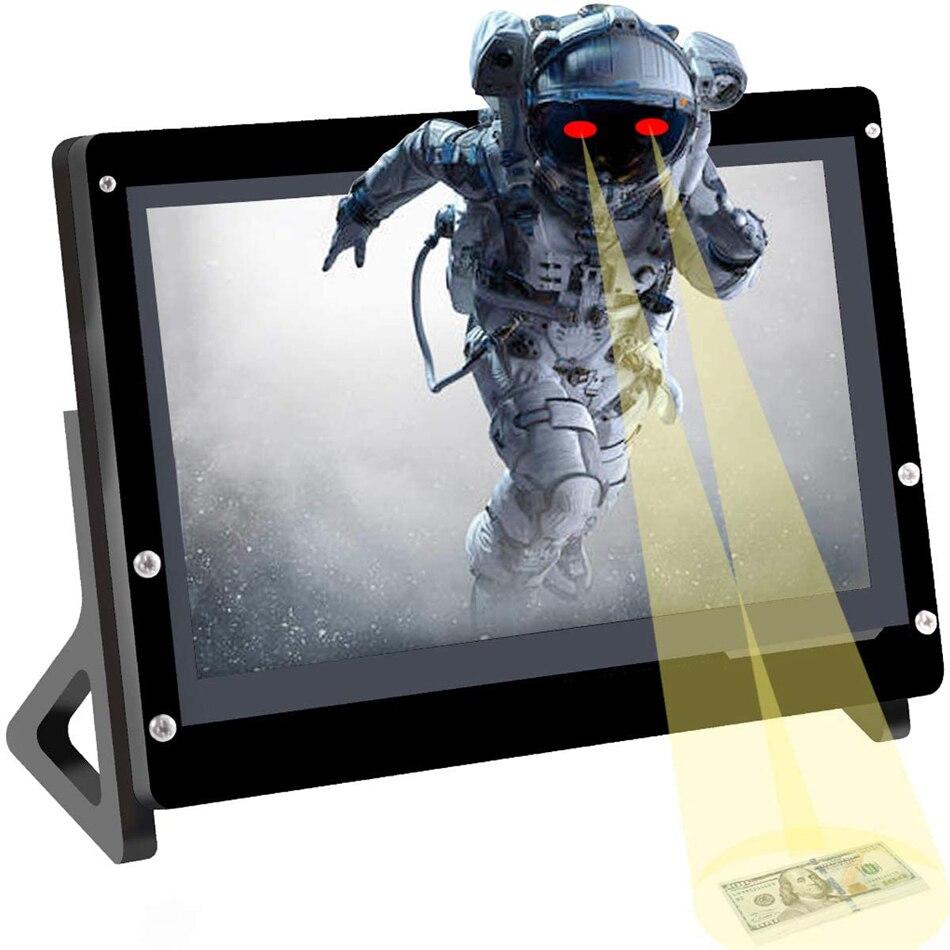 شاشة 7 بوصة Raspberry Pi 4 موديل B 3B LCD تعمل باللمس 1024 × 600 800 × 480 HDMI TFT حامل اختياري لـ Nvidia jetan Nano PC